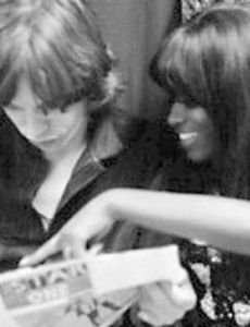 Mick Jagger and Claudia Lennear