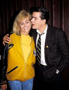 Charlie Sheen and Ginger Lynn