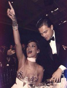 Leonardo DiCaprio and Rihanna