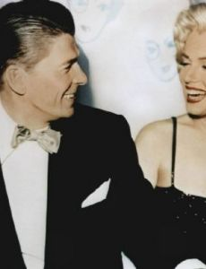 Ronald Reagan and Marilyn Monroe