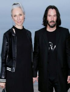 Alexandra Grant and Keanu Reeves