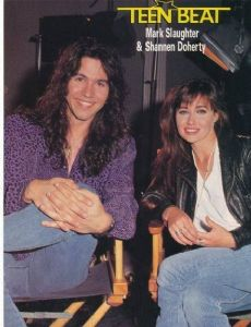 Shannen Doherty and Mark Slaughter