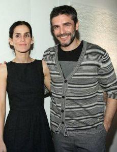 Leonardo Sbaraglia and Guadalupe Marin (sculptress)