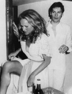 Helmut Berger and Ursula Andress