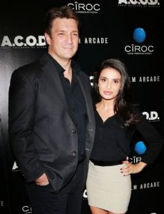 Nathan Fillion and Mikaela Hoover