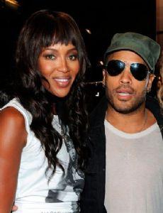 Naomi Campbell and Lenny Kravitz