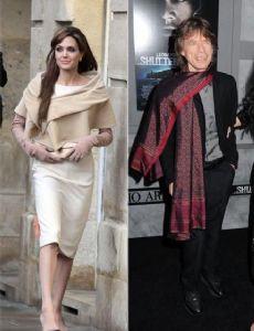 Mick Jagger and Angelina Jolie