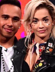 Rita Ora and Lewis Hamilton