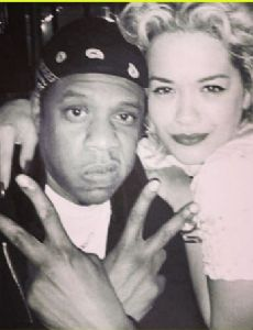 Jay-Z and Rita Ora