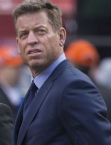 Troy Aikman and Janine Turner