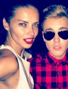 Justin Bieber and Adriana Lima
