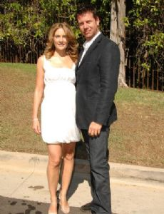 Madchen Amick and David Alexis