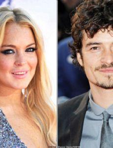 Lindsay Lohan and Orlando Bloom
