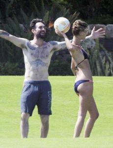 Adam Levine and Nina Agdal
