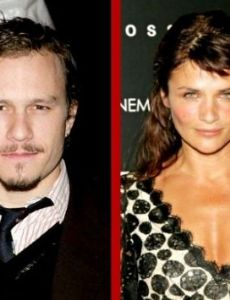 Heath Ledger and Helena Christensen