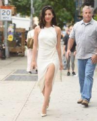Olivia Munn in Cushnie Et Ochs dress