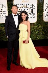 Channing Tatum and Jenna Dewan-Tatum: 72nd Annual Golden Globe Awards 2015- Arrivals