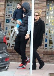 Shakira and Gerard Piqué: family walk