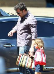 Ben Affleck Takes Daughter Seraphina To A Party