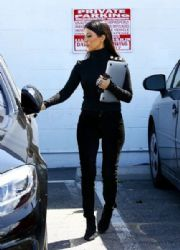 Kourtney Kardashian seen at a studio in Van Nuys on March 28, 2016