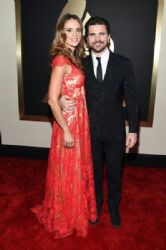 Juanes and Karen Martinez : The 57th Annual GRAMMY Awards - Red Carpet