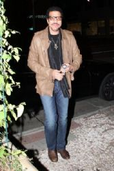 Lionel Richie out for dinner at Madeo Restaurant in West Hollywood, California on January 19, 2013