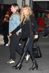 Dyan Cannon is spotted leaving the Staples Center in Los Angeles after a Laker game