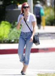 Rumer Willis stops by the Andy Lecompte Salon in West Hollywood