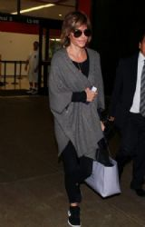 Lisa Rinna arrives at LAX