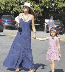 Alessandra Ambrosio and Daughter Shop in Brentwood