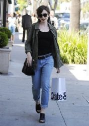 Lily Collins: shopping in Beverly Hills