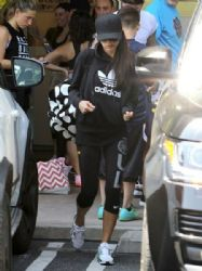 Victoria Beckham: leave Soul Cycle gym after a vigorous morning workout in Brentwood