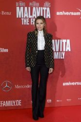 Michelle Pfeiffer wears Alexander McQueen - 'Malavita, The Family' Berlin Premiere