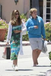 Maria Shriver: shopping at a local surf shop in Malibu