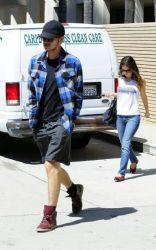 Rachel Bilson and Hayden Christensen headed over to the Los Feliz Towers apartments