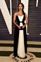 Zoe Saldana: Elton John AIDS Foundation Oscars 2015 Viewing Party