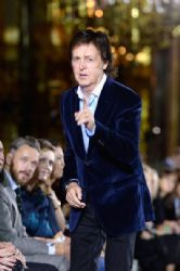 Paul McCartney wears Stella McCartney - front row at Stella McCartney Spring 2014