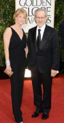 Steven Spielberg and Kate Capshaw: arrives at the 70th Annual Golden Globe Awards held at The Beverly Hilton Hotel
