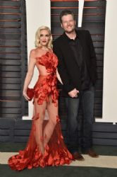Gwen Stefani and Blake Shelton: 2016 Vanity Fair Oscar Party Hosted By Graydon Carter - Arrivals