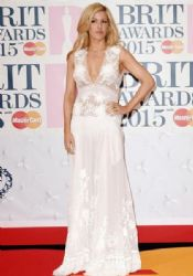 Ellie Goulding wears Alberta Ferretti - The 2015 Brits Awards