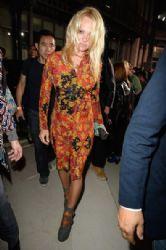 Pamela Anderson wears Vivienne Westwood - front row at Vivienne Westwood Spring 2014