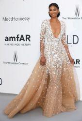 Chanel Iman wears Zuhair Murad - Cannes 2015 Amfar Cinema Against Aids Gala