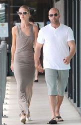 Rosie Huntington-Whiteley and Jason Statham out for breakfas