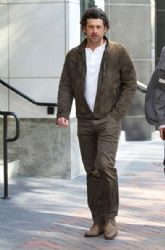 Patrick Dempsey leaves The Beverly Wilshire Hotel