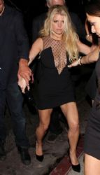 Jessica Simpson wears Saint Laurent - Warwick Nightclub