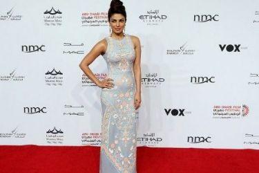 Priyanka Chopra wears Pankay And Nidhi - Abu Dhabi Film Festival