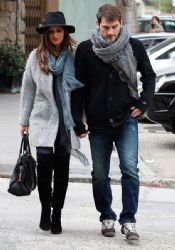 Iker Casillas and Sara Carbonero: out and about