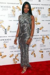 Naomi Campbell wears Versace - 2015 Fragrance foundation awards