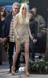 Taylor Momsen: on the set of 'Gossip GIrl' in NYC