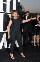 Tina Turner wears Giorgio Armani - Giorgio Armani Hosts 'One Night Only' Roma Red Carpet Finale